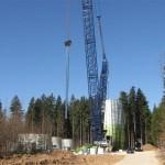 Windradbaustelle in der Oberpfalz